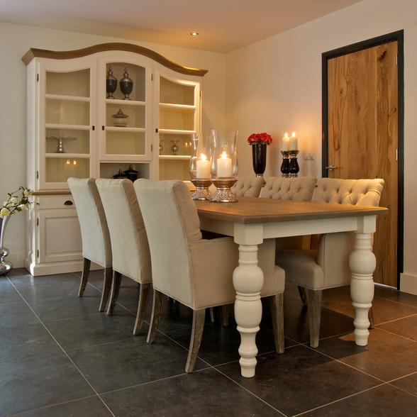 Landelijke meubelen woonaccessoires castelo en houten for Eetkamerstoelen landelijk interieur